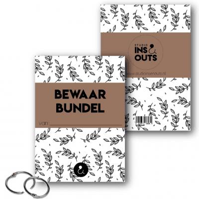 Studio Ins & Outs Bewaarbundel kaarten – Botanical Caramel – A4 Bewaarbundels