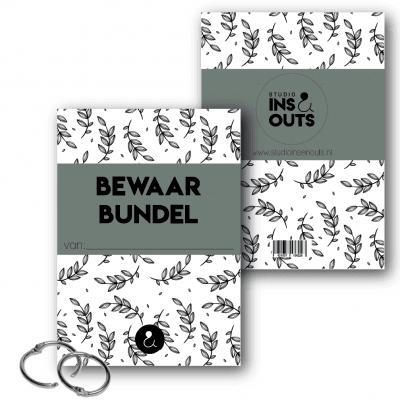 Studio Ins & Outs Bewaarbundel kaarten – Botanical Groen – A5 Bewaarbundel geboortekaartjes