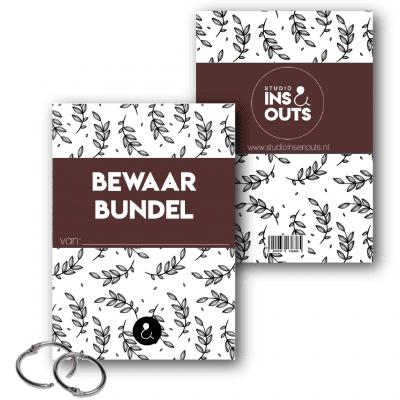 Studio Ins & Outs Bewaarbundel kaarten – Botanical Roest – A4 Bewaarbundels