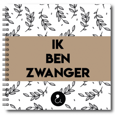 Studio Ins & Outs 'Ik ben zwanger' – Botanical Caramel 9 maanden dagboek
