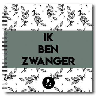 Studio Ins & Outs 'Ik ben zwanger' – Botanical Groen 9 maanden dagboek