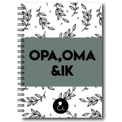 Studio Ins & Outs Invulboek 'Opa, oma & ik' – Botanical Groen Boek vaderdag