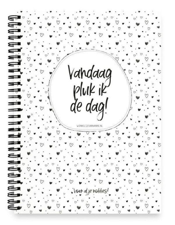 Winkeltjevananne Notitieboek Pluk de dag – A5 Notitieboek