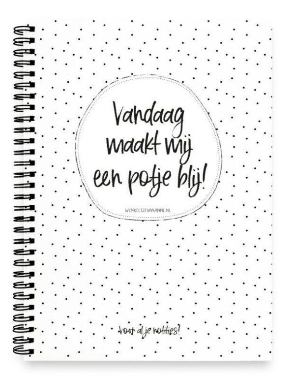 Winkeltjevananne Notitieboek Potje blij – A5 Notitieboek