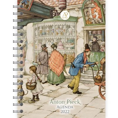 Anton Pieck Bureau-agenda 2022 – Draaiorgel voor bakkerij Bureau agenda