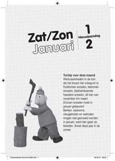 Buurman & Buurman Scheurkalender 2022 Kalenders voor 2022