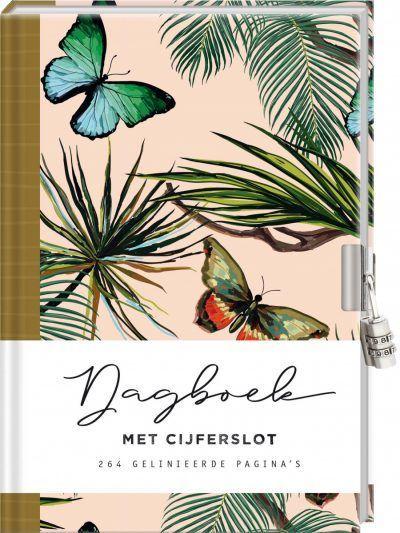 Dagboek met cijferslot voor volwassenen – Butterfly Dagboek met slot