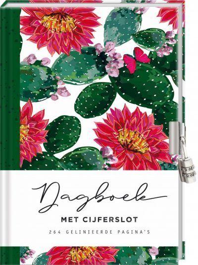 Dagboek met cijferslot voor volwassenen – Cactus Dagboek met slot