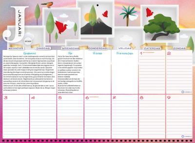 De enige echte Family Survival Planner 2022 Familie kalender