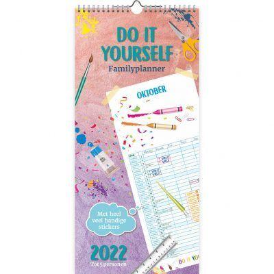 Do It Yourself met stickers Familie maandplanner 2022 Familie kalender
