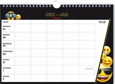 Emoji Familieplanner 2022 Familie kalender