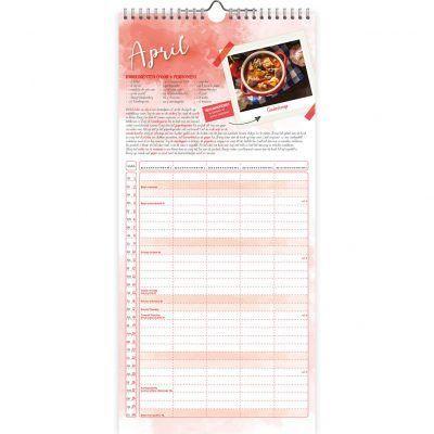 Familie maandplanner 2022 – Familiekeukenplanner Familie kalender