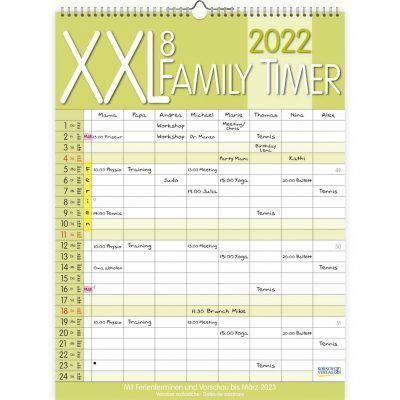 Family timer XXL (8-persoons) – Familie kalender 2022 Jaarkalender