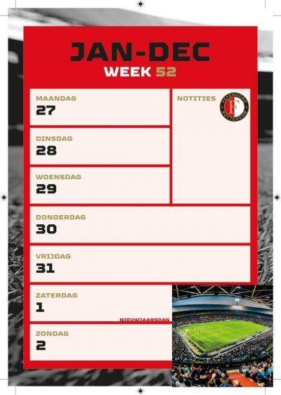 Feyenoord Weekkalender 2022 Feyenoord kalender