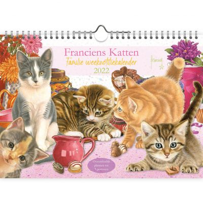 Franciens Katten Familie weekplanner A4 2022 Familie kalender
