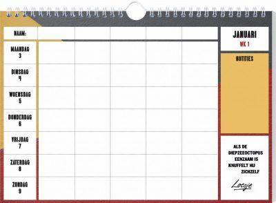 Loesje Familieplanner 2022 Familie kalender