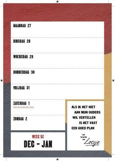 Loesje Weekkalender 2022 Grappige kalender