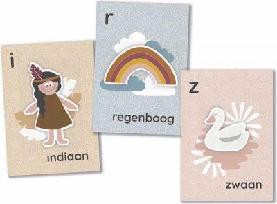 Maan Amsterdam – Mijn alfabetkaarten 'Juul' in bewaarblik – Roze Alfabet kaarten