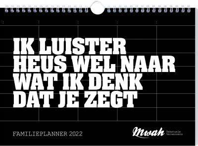 Mwah Familieplanner 2022 Familie kalender