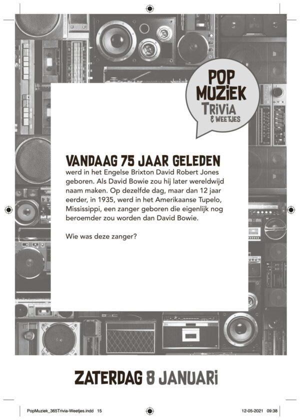 Pop & Rock Scheurkalender 2022 Grappige kalender