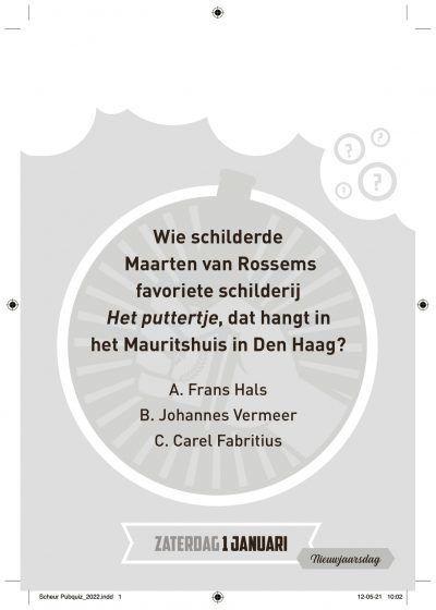 Pubquiz Scheurkalender 2022 Kalenders voor 2022