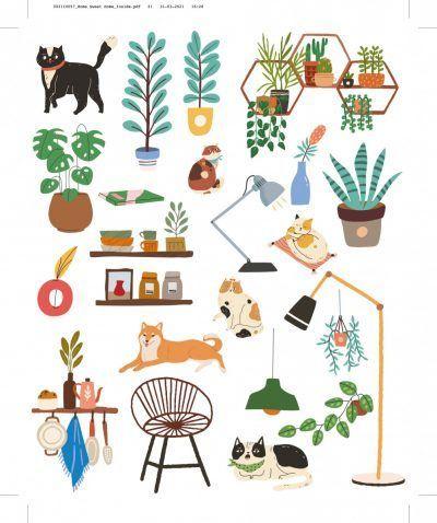 Rub-on Stickers kleurboek – Home sweet home Kleurboek dieren