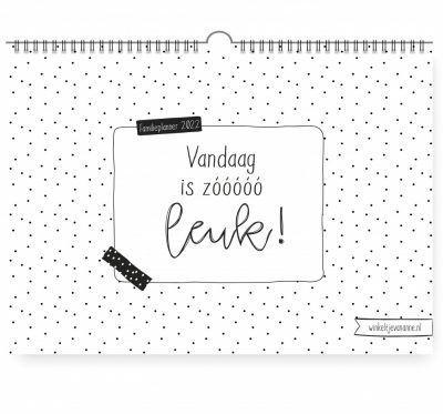 Winkeltjevananne Familieplanner 2022 – A4 Familie kalender