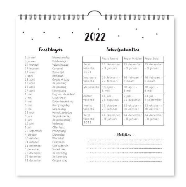 Fyllbooks Weekkalender 2022 Jaarplanner
