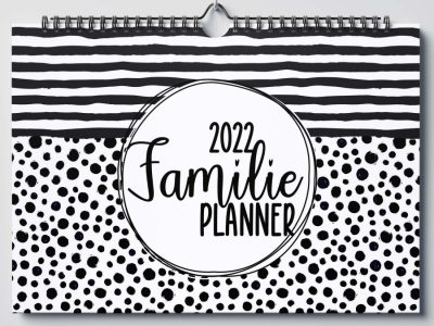 SilliBeads Familieplanner 2022 – A4 Familie kalender
