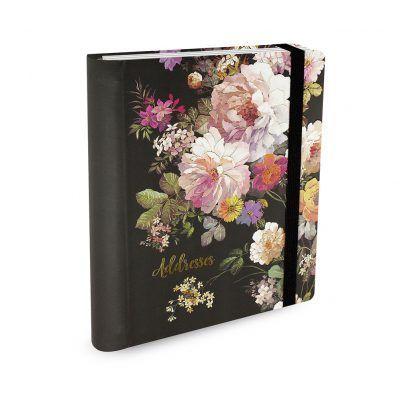 Peter Pauper Adresboek Midnight floral – A5 (large) Adresboek
