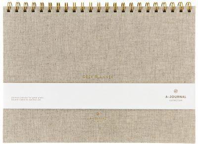 A-Journal Deskplanner – Weekplanner – Linnen Deskplanners