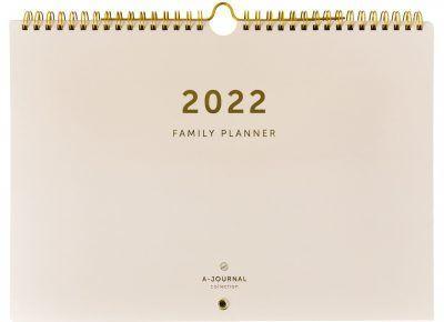 A-Journal Familieplanner 2022 A4 – Beige Familie kalender