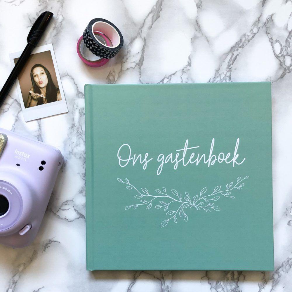 Bonjour to you – Gastenboek Sage Green Gastenboek