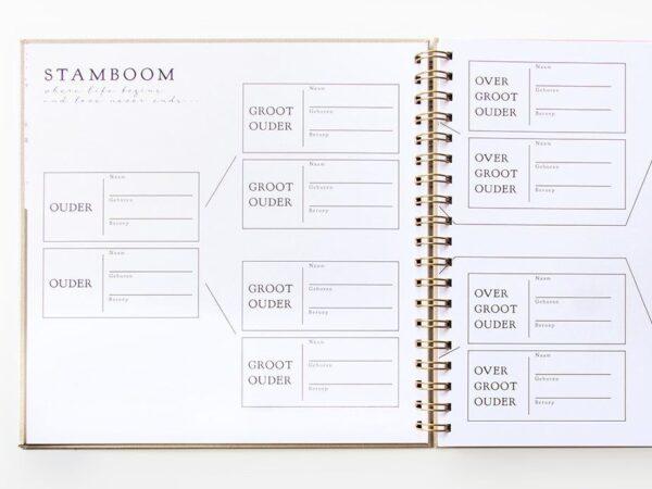 HOP Babyboek – Linnen Taupe 9 maanden dagboek