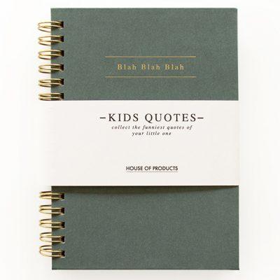 HOP Blah blah blah Kidsquotes – Blue Uitsprakenboekje