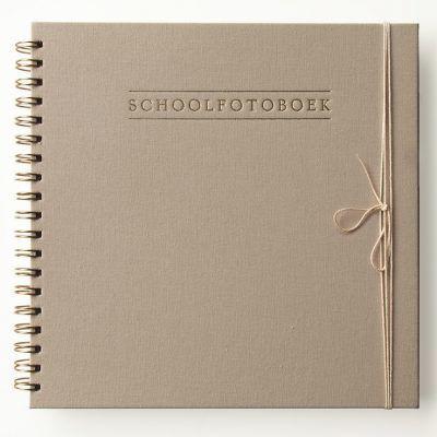 HOP Schoolfotoboek – Linnen Taupe Schoolfotoboek