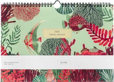 &INK Familieplanner 2022 A4 – Aqua Familie kalender