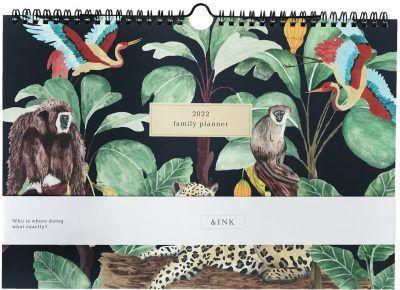 &INK Familieplanner 2022 A4 – Jaguar – Donkerblauw Familie kalender