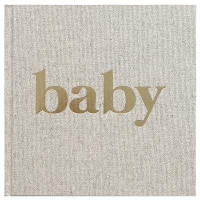 KIDOOZ Babyboek – Linnen goudfolie Babyboek
