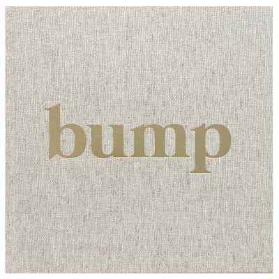 KIDOOZ Bump zwangerschapsdagboek – Linnen goudfolie 9 maanden dagboek
