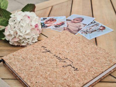 KIDOOZ Mijn eerste jaar babyboek – Linnen Kurk Babyboek